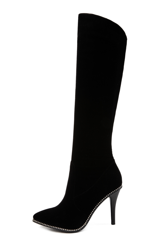 Sklfcxzy Chaussures En Genou Femmes À Gratuite Hauteur Femme Livraison Noir 2018 Et Bottes Décoration Stiletto Cuir Mode Du Strass CqCAZr
