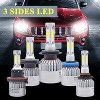Super Bright Auto Car H8 H11 H7 H4 H1 LED Headlights 72W 6500K 8000LM 12V COB
