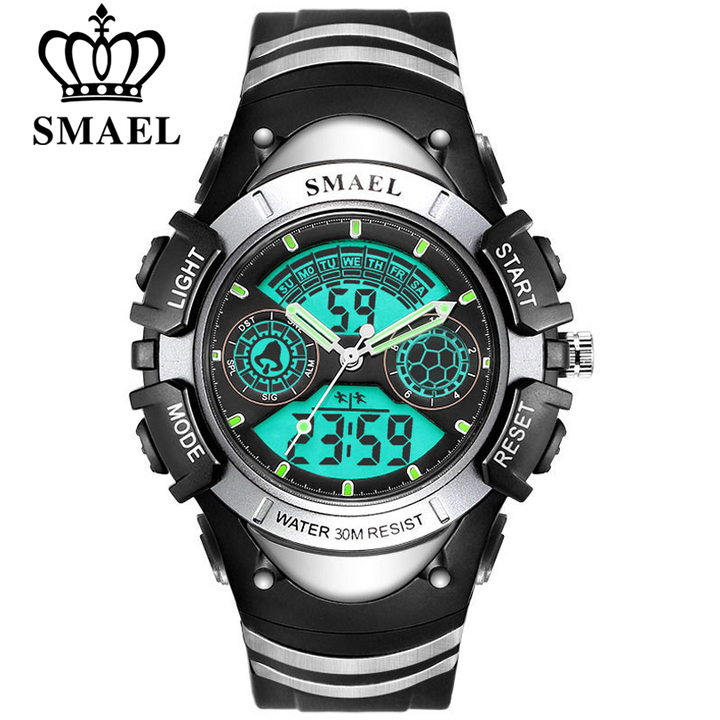 SMAEL Children LED Display Digital Watch 30M Waterproof Kids Sport Watches Multifunction Electronic Boy&Girl Student Wrist Watch