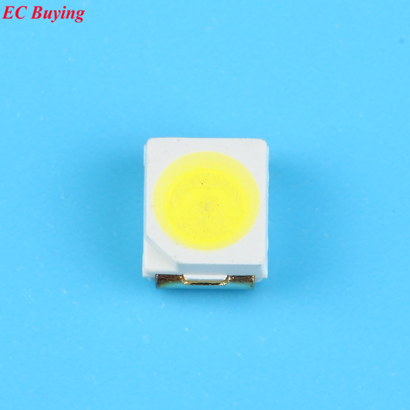 100pcs Ultra Bright 3528 LED SMD White Chip Surface Mount 20mA 7-8LM Light-Emitting Diod ...