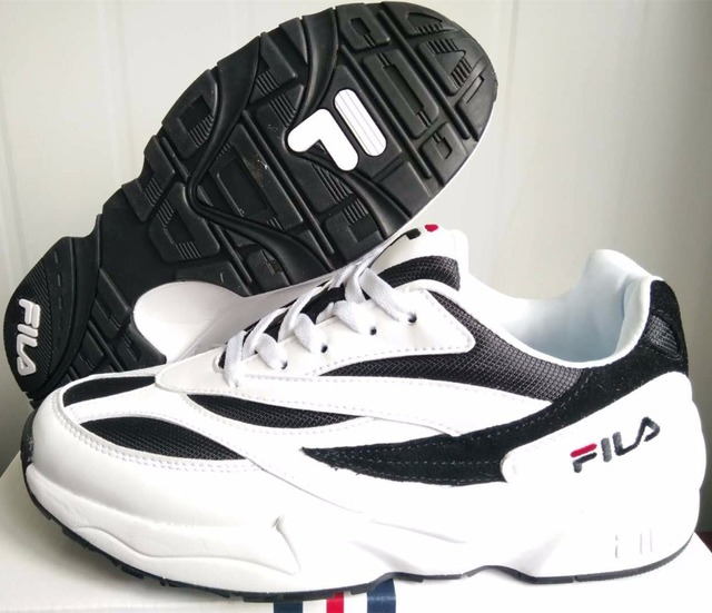 2f52572146 Original FILA Classic retro daddy shoes Black and white Running shoes High  Quality Sport Shoes Free Shipping size EUR36 44 on Aliexpress.com | Alibaba  ...