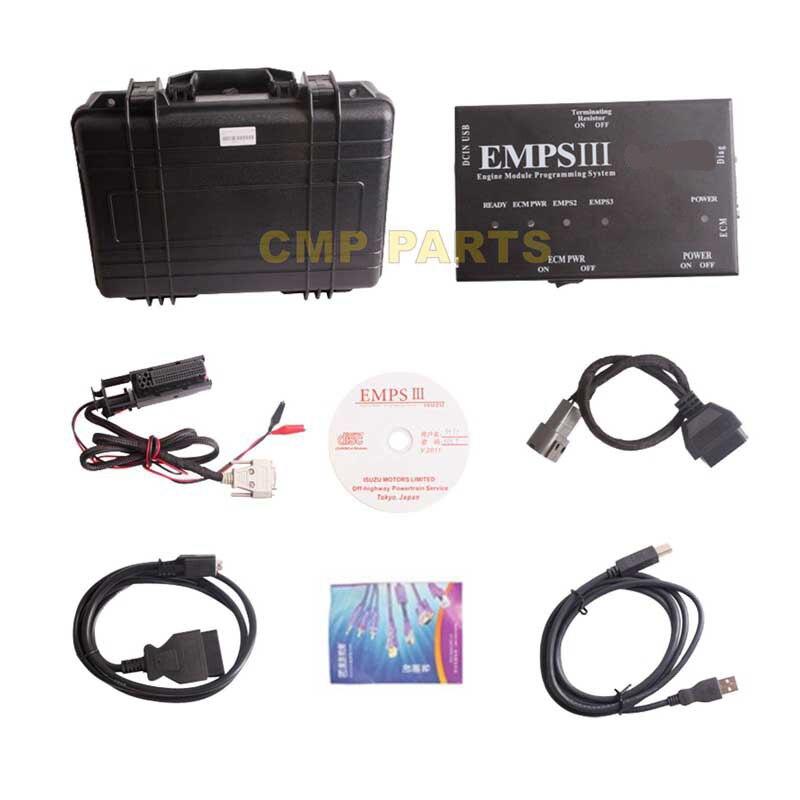 Бесплатная доставка empsiii Программирования Плюс с дилером уровня грузовых инструмент диагностики для isuzu EMPS 3 Diesel Инструменты