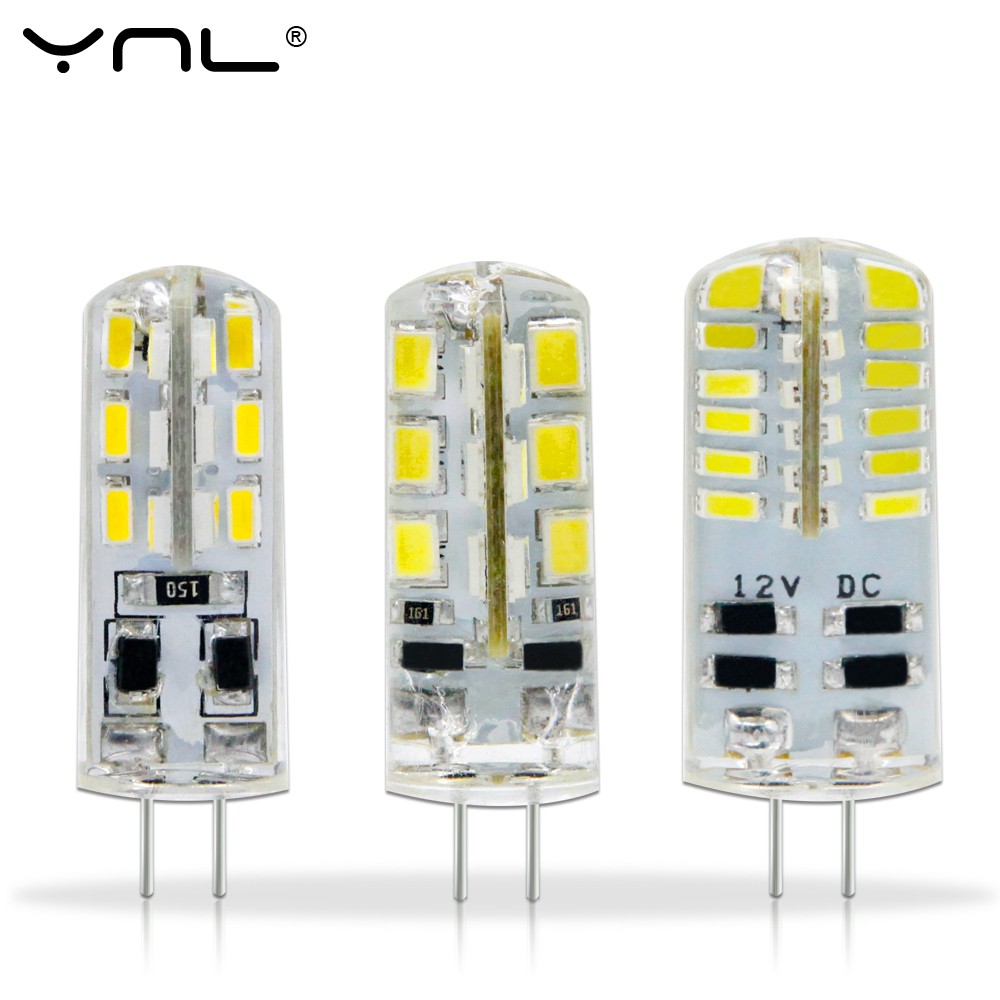 все цены на YNL LED G4 3014 SMD 3W 2W 1W 220V & DC 12V G4 LED Lamp 20W halogen lamp g4 led 12v Corn Bulb Silicone Lamps Chandeliers Lighting в интернете