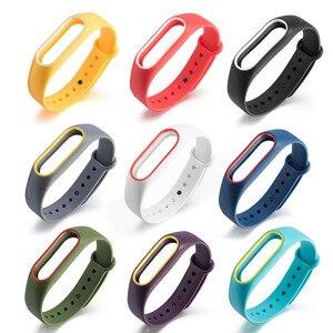 Image 1 - 21 kolory moda bransoletki dla Xiaomi Mi Band 2 Sport pasek zegarka silikonowy pasek na rękę dla Xiaomi MiBand2 bransoletka pasek na rękę