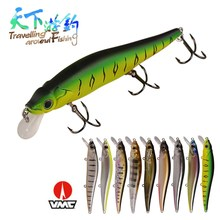 TAF Fishing Lures 11cm 13.7g Hard Pencil Bait Floating 1.0nm Carp Lure with France VMC Hook ABS Plastic Wobblers Pesca