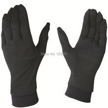 Моющаяся подкладка из мериносовой шерсти, легкие шерстяные перчатки, австралийская мериносовая шерсть перчатки, черный цвет