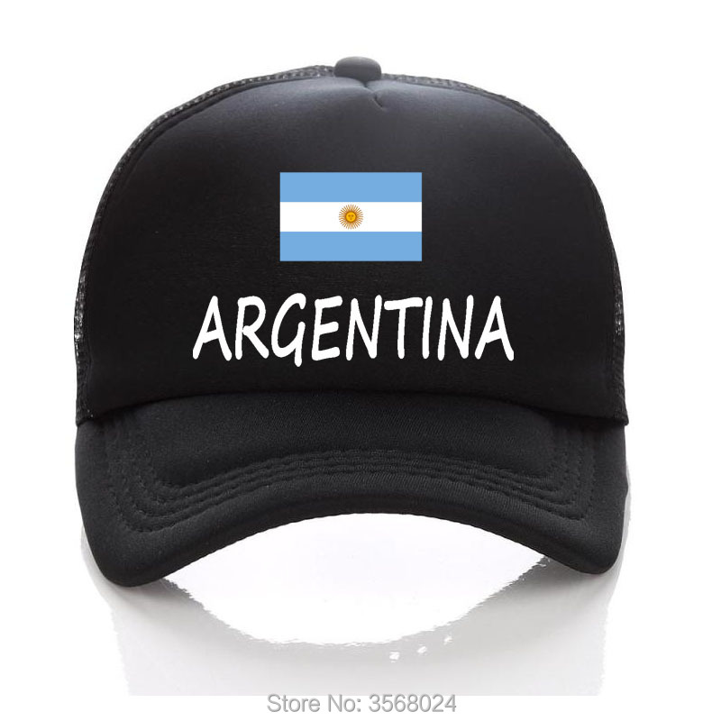 7bf74438 2018 football Trucker Hats For Men Football Mesh Baseball Cap Adult Sun Hat  ARGENTINA Flag For