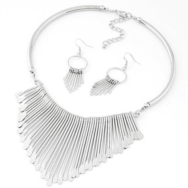 Women Necklace Earrings Jewelry Set