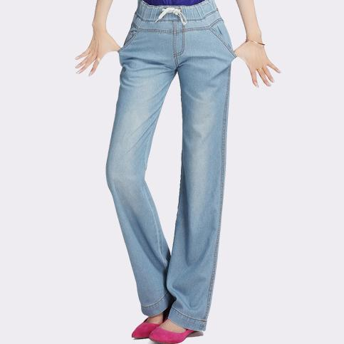 e3b28c778ab new Wide Leg Jeans Women plus Size loose straight 2018 pants female waist  elastic Long Trousers