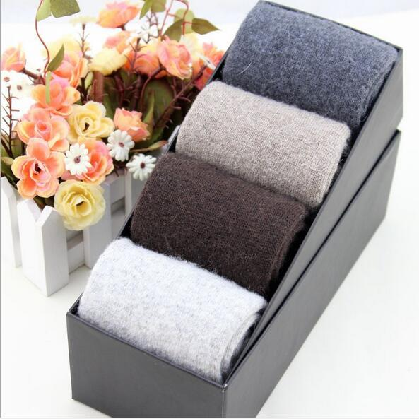 Export 2016 winter warm men wool socks business man box-packed thicken simple socks sirs ...