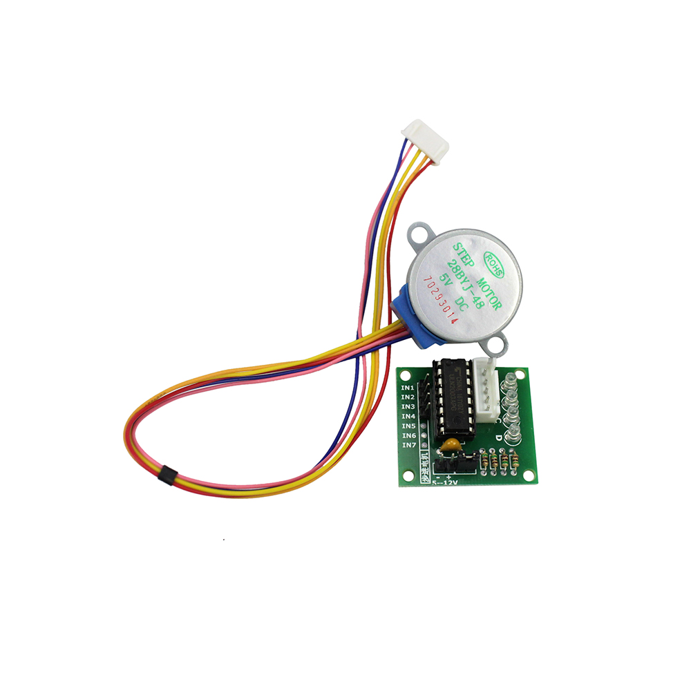 Smart Electronics 28BYJ-48 5V 4 Phase DC Gear Stepper Motor + ULN2003 Driver Board for arduino DIY Kit lson 5v 4 phase stepper motor learning package w driver board multicolored