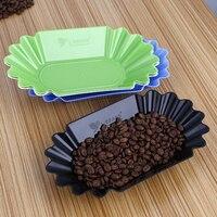 8pcs 커피 Cupping 샘플 트레이 타원형 트레이 그린 & 볶은 커피 콩 플래터 커피 콩 작은 비스킷에 대한 식사|찻쟁반|홈 & 가든 -