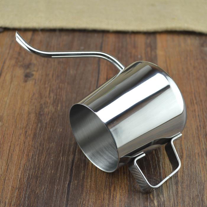 Hairline stainless steel milk coffee pot coating small mouth pot drip coffee pots