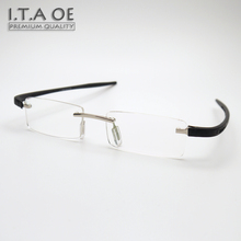 ITAOE Brand T3632 Rimless Fashion TAG Light Style Alloy TR100 Men Women Myopia Reading Optical Eyewear Frames Glasses Spectacles