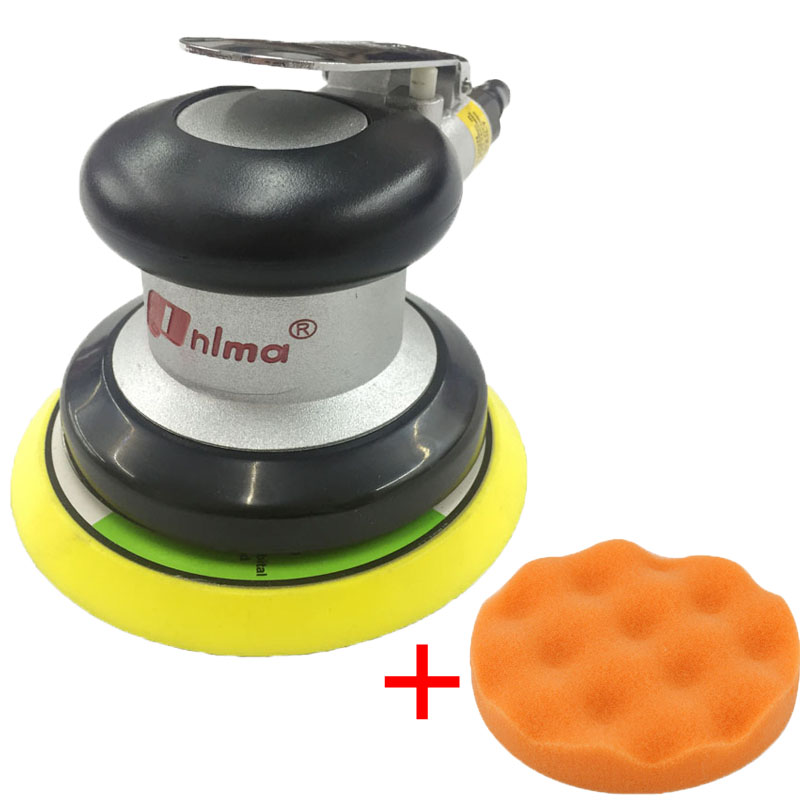 Pneumatic Tool Polishing Machine 5 Inch Round Sander Sandpaper Random Orbital Grinder Industrial Grade