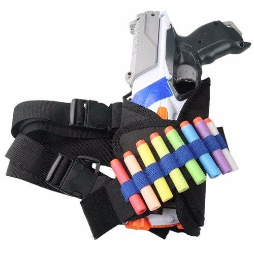 1Pcs Bullet Shooting Tactical Bullet Target Pockets Ammo Holder Bag Soft for Nerf Bullet Accessories Kids Toy Gun Bag ...