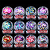 12 Box Set Colorful Round 3sizes Sequins Beauty Nail Art Glitter Decoration 3D Nail Design Manicure