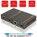 2020 HDMI Extender mit IR & Loop Out 1080P HDMI Extender 60m Keine Verlust RJ45 zu HDMI Extender sender Empfänger über Cat5e/Cat6