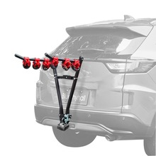 V Shape Iron Bicycle Rack 3-Bike Hitch Mount Car Racks Mountain Bike Carrier for Travel