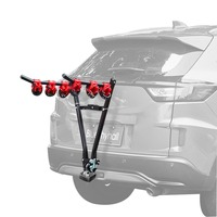 V Shape Iron Bicycle Rack 3 Bike Hitch Mount Car Racks Mountain Bike Carrier for Travel