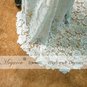 Image 5 - Mryarce vestido elegante Bohemia boda, espalda abierta, encaje elástico suave, favorecedor, abertura frontal, novia Bohemia
