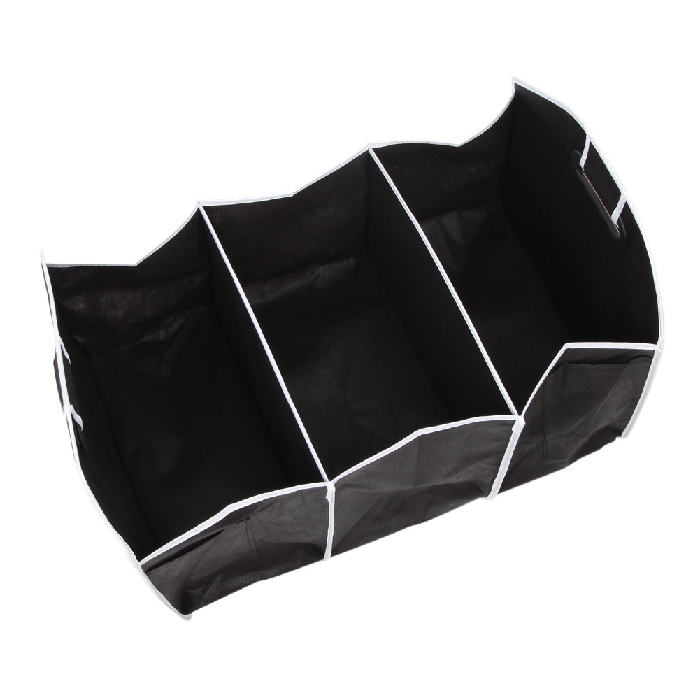 1PCS Collapsible Black Car Non-Woven Organizer Toys Food Storage Container Bags Box Car Stowing Styling Auto Accessories 16