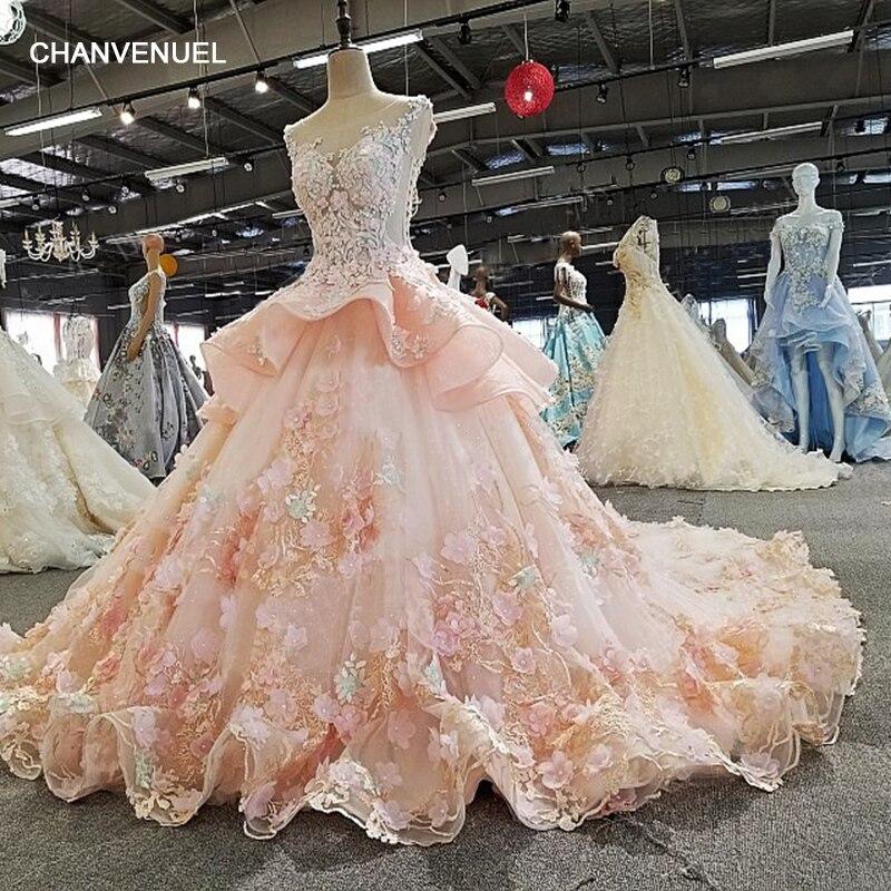 LS00279 vestido de festa appliques sleeveless see through back ball gown flower beading lace luxury evening