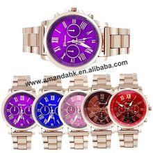 Женские часы GENEVA Roman Number Hours Case повседневные часы аналоговые Мужские кварцевые наручные часы GENEVA