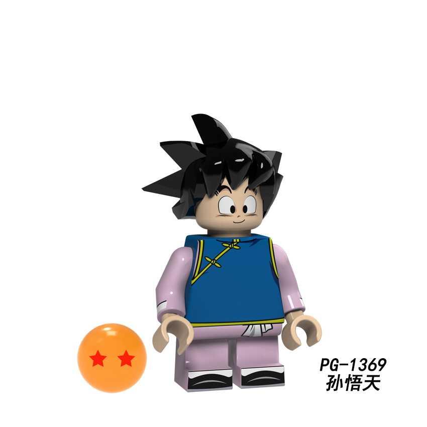 Venta única PG8166 Bola de Dragón Goku Son Goten Gotenks bañadores Tien Shinhan Android 18 legointly bloques de construcción juguete niños regalo