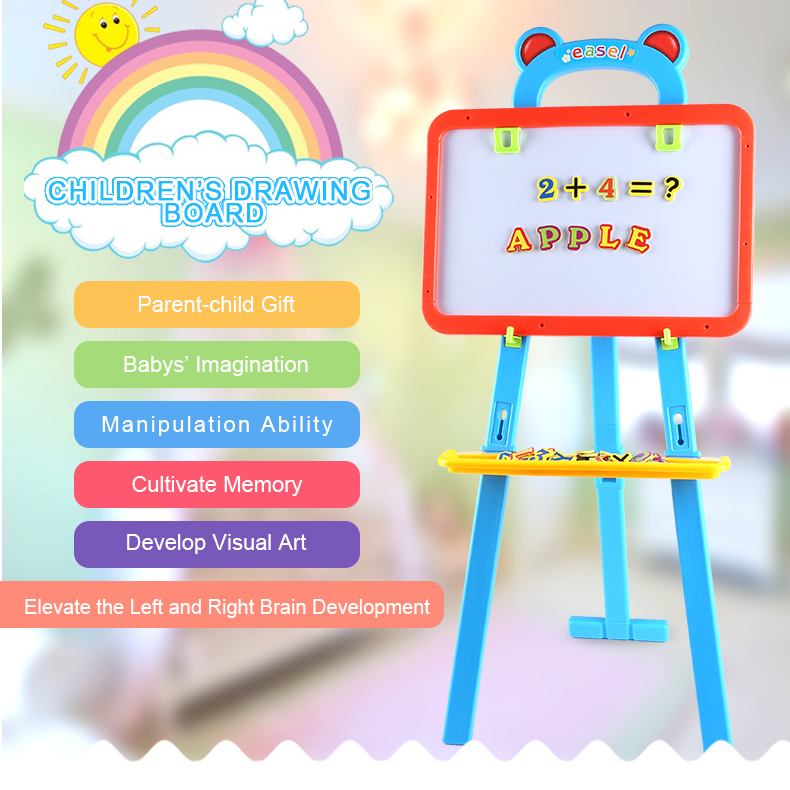 Children's Magnetic Chalk Erasable Drawing Board Set for Early Education  Enlightenment abwe best sale fantastic wooden easel magnetic doodle drawing board drawing blackboard toy for children