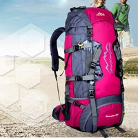 80L Hiking Camping Luggage Rucksack Backpack Military Tactical Travel Bag