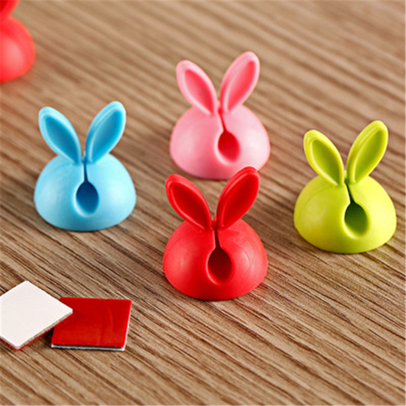 SIANCS-2PCS-Cute-Rabbit-Clip-Earphone-Cable-Winder-Bobbin-clamp-protector-USB-Cable-Ties-Organizer (5)