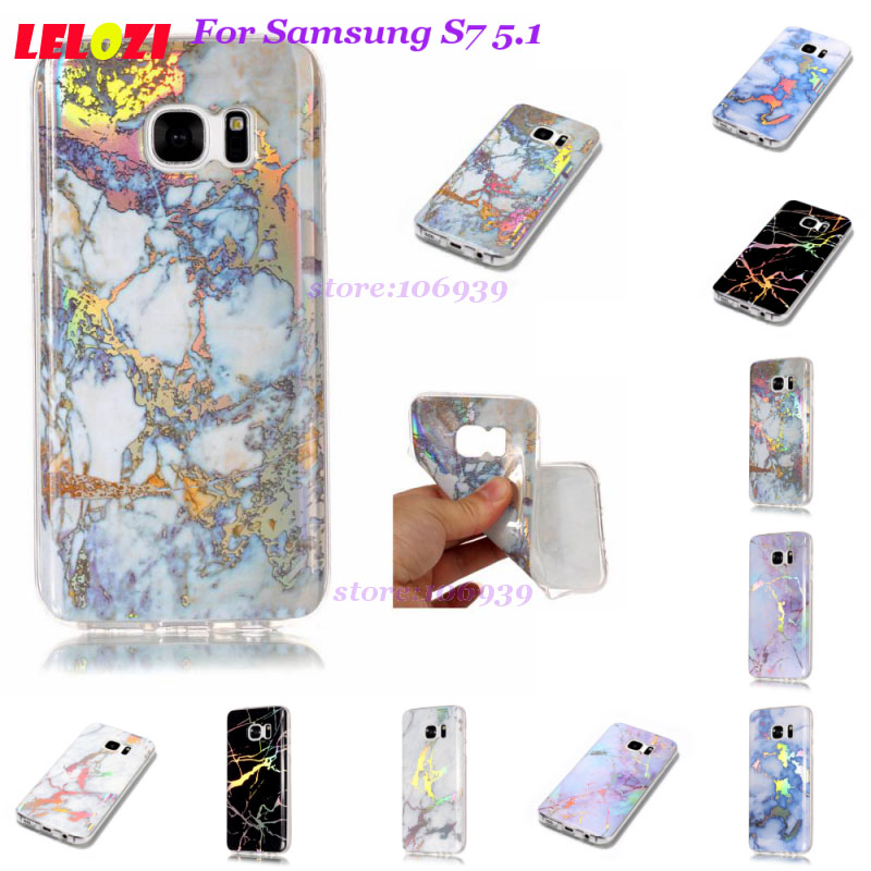LELOZI Art Vintage Glossy Girls Female Soft Accessories Back Marble TPU Plating Case Car ...