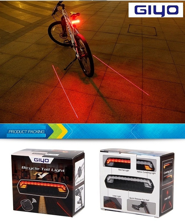 Front Bar Remote Control Rechargeable LED Bike Tail Light Bicycle Turn Signal