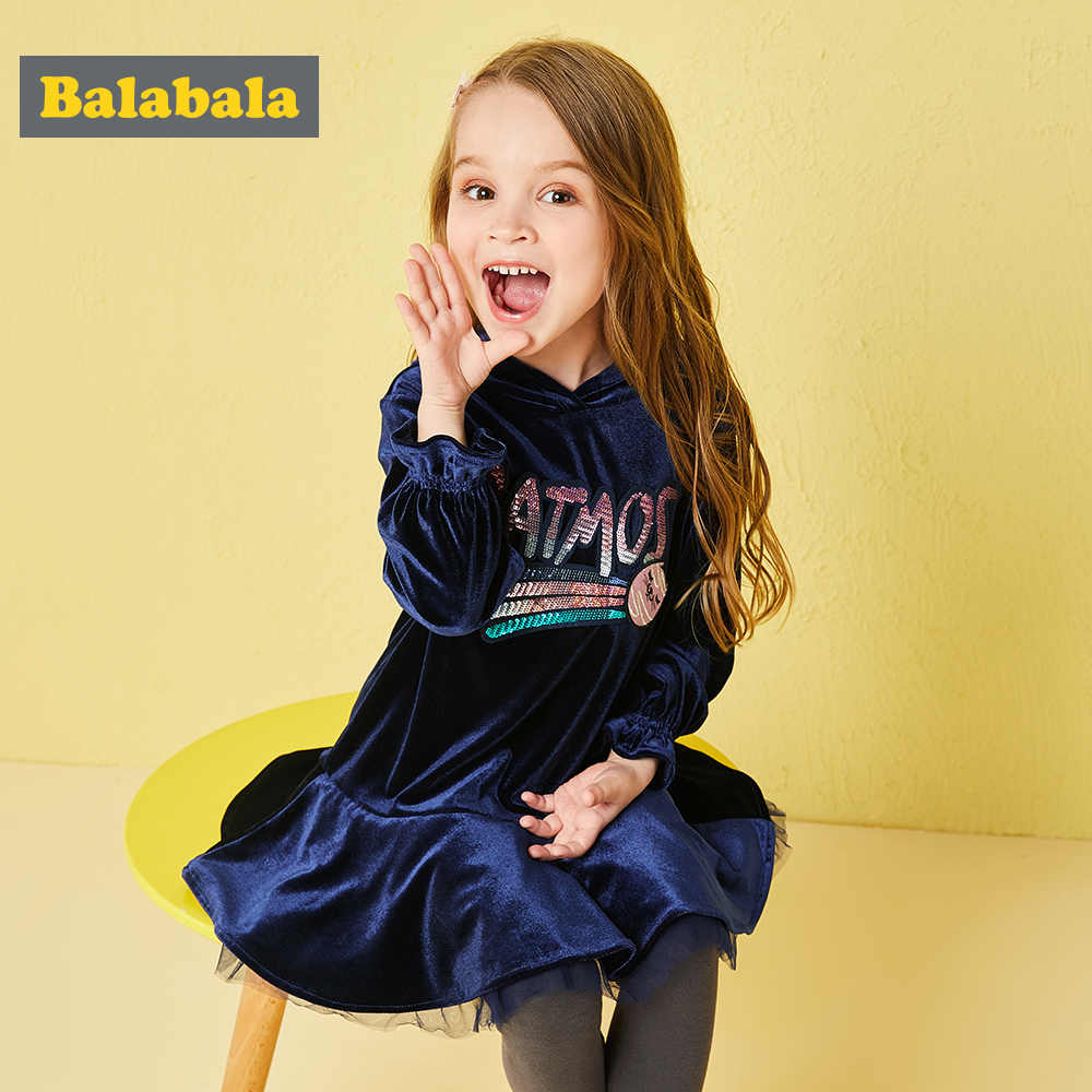 Balabala 2pairs/lot set paillette Ruffles patchwork velvet hoodies and leggings kid suit set autumn clothing for toddler girl