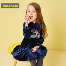 Balabala 2 ペア/ロットセット paillette のフリルパッチワークベルベットパーカーとレギンス子供スーツセット秋の服幼児ガール