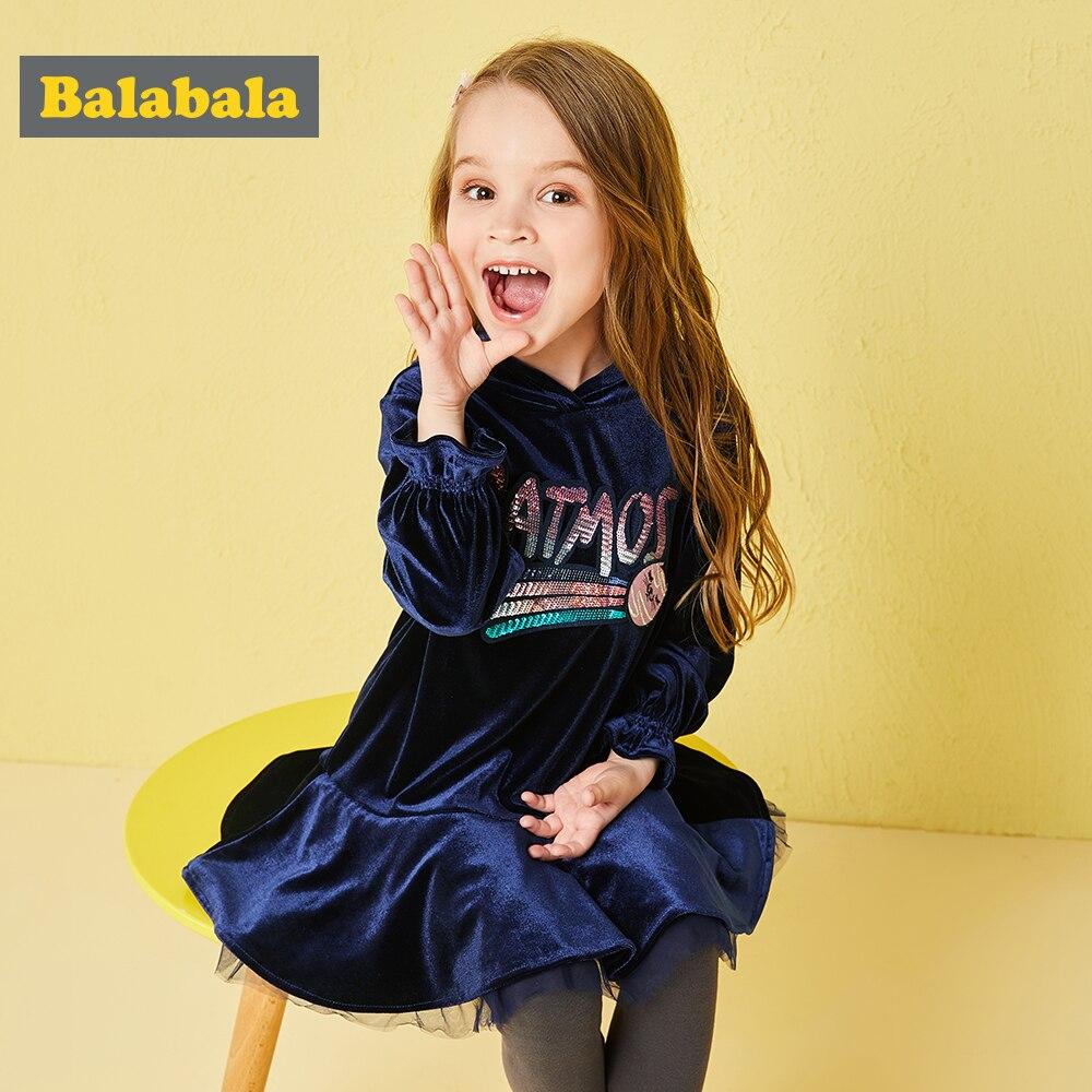 Balabala 2 pares/lote conjunto paillette Ruffles patchwork hoodies e calças de veludo criança terno conjunto outono roupas para a criança menina