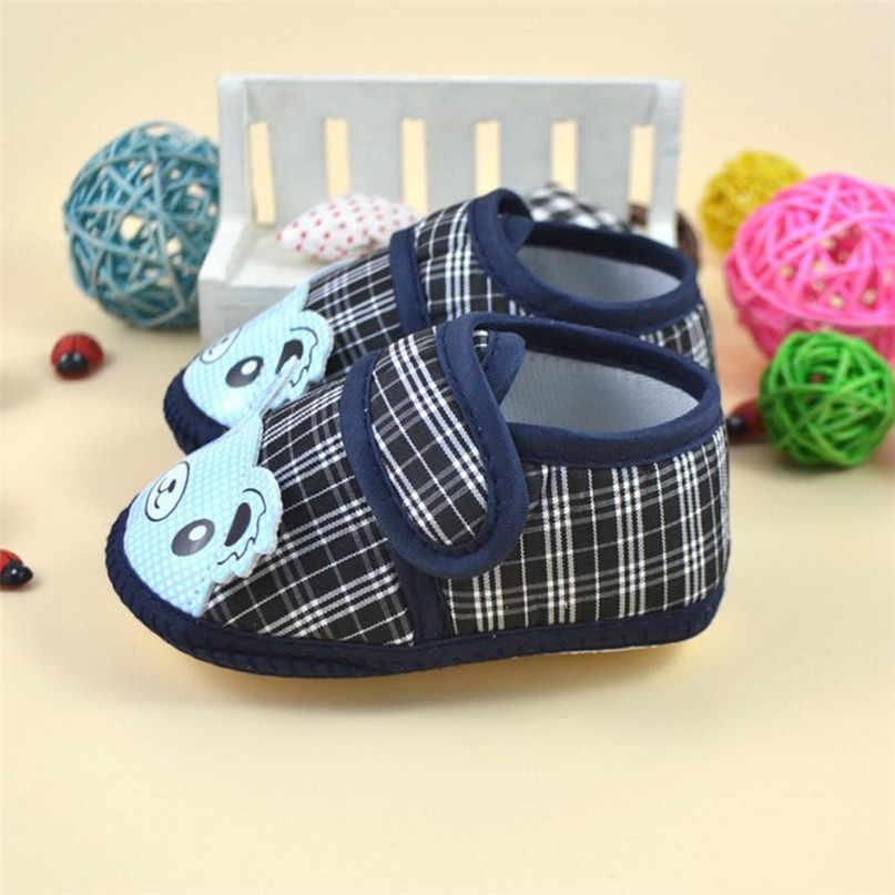 สีฟ้าสีแฟชั่น First Walkers รองเท้าเด็ก 2017 ทารกแรกเกิดเด็กผู้ชายเด็กอ่อน Crib รองเท้าผ้าใบ drop จัดส่ง ST20