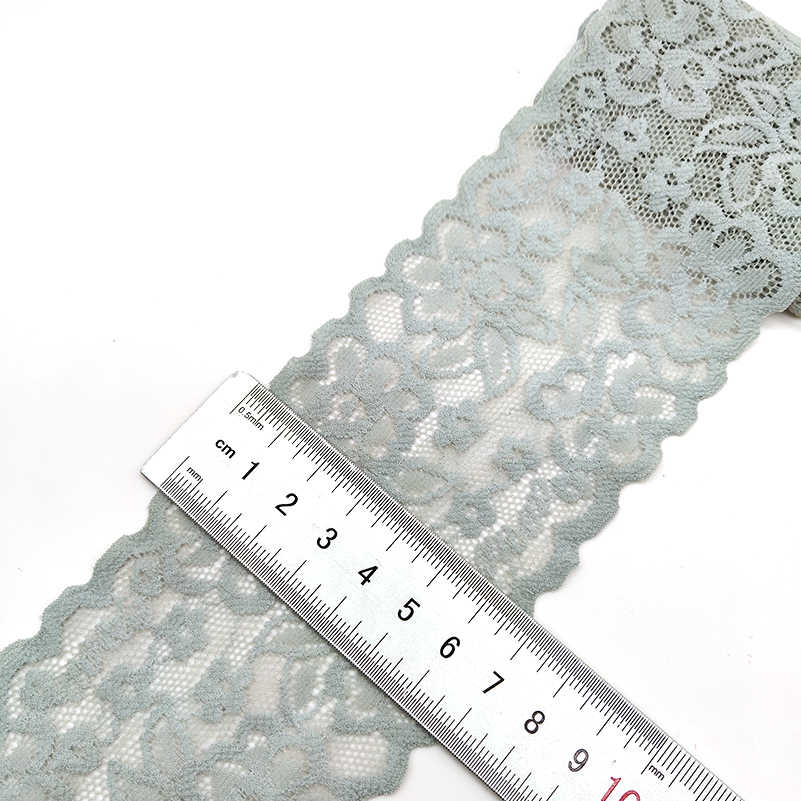 Высокое качество 1 ярдов цветочный узор стрейч кружевная ткань кружевные ленты с отделкой ленты Diy ремесло ткань 7 см/2,7 дюйма Ширина африканские ткани