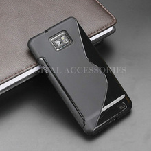 8 Color S Line Gel TPU Slim Soft Anti Skiding Case Back Cover For Samsung Galaxy S2 i9100 Mobile Phone Rubber silicone Bag