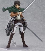 Anime Attack on Titan Figure Figma 207 Eren Jaeger PVC Action Figures Juguetes Collection Model Kids Toys Doll 15cm