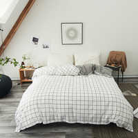 White black plaid Duvet Cover Twin Full Queen King Single modern fashion comfortable Quilt Cover Printing Home One piece