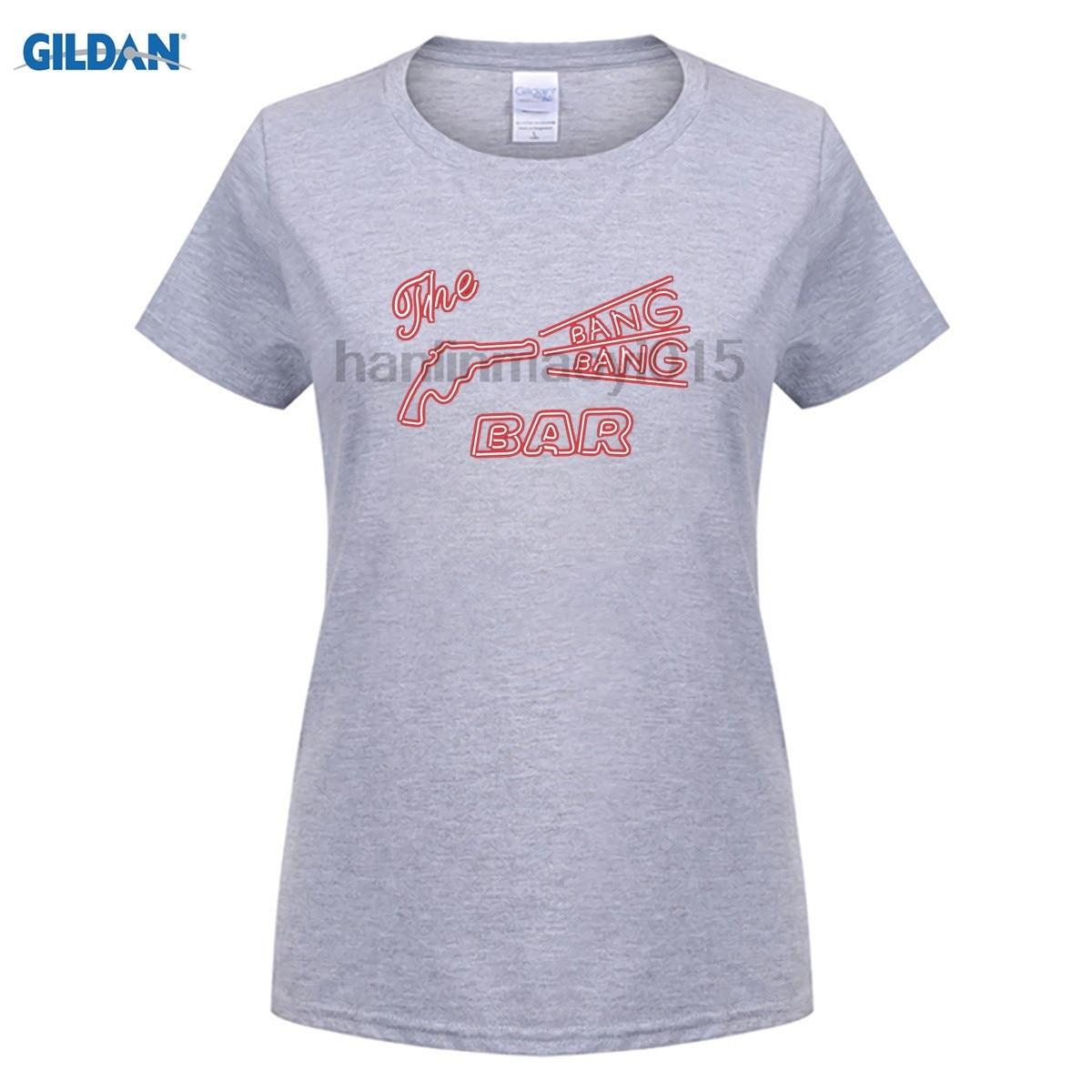 GILDAN 100% cotton O-neck printed T-shirt The Original BANG BANG BAR - Twin Peaks T-Shirt for women