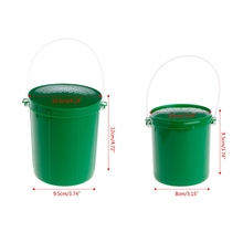1pc Fishing Bait Bucket Breathable Fishing Bait Container Live Bait Boxes Earthworm Maggot Worm Lure Fishing Tackle Box