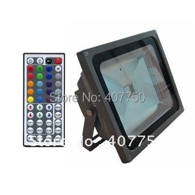 La télécommande infrarouge populaire de 44 clés rvb haute tension 60 w a mené l'angle de faisceau large imperméable de la lumière d'inondation IP65 pour le football