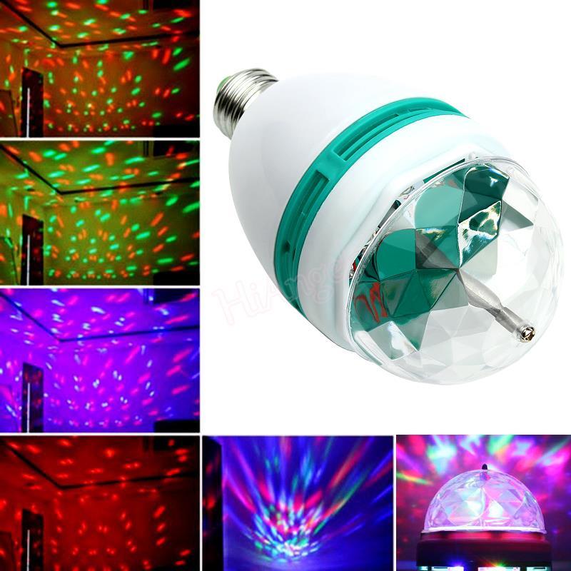 Professional Disco Light E27 3W Dj Colorful Auto Rotating Par RGB LED Bulb Stage Lighting For Party Lamp HA10515