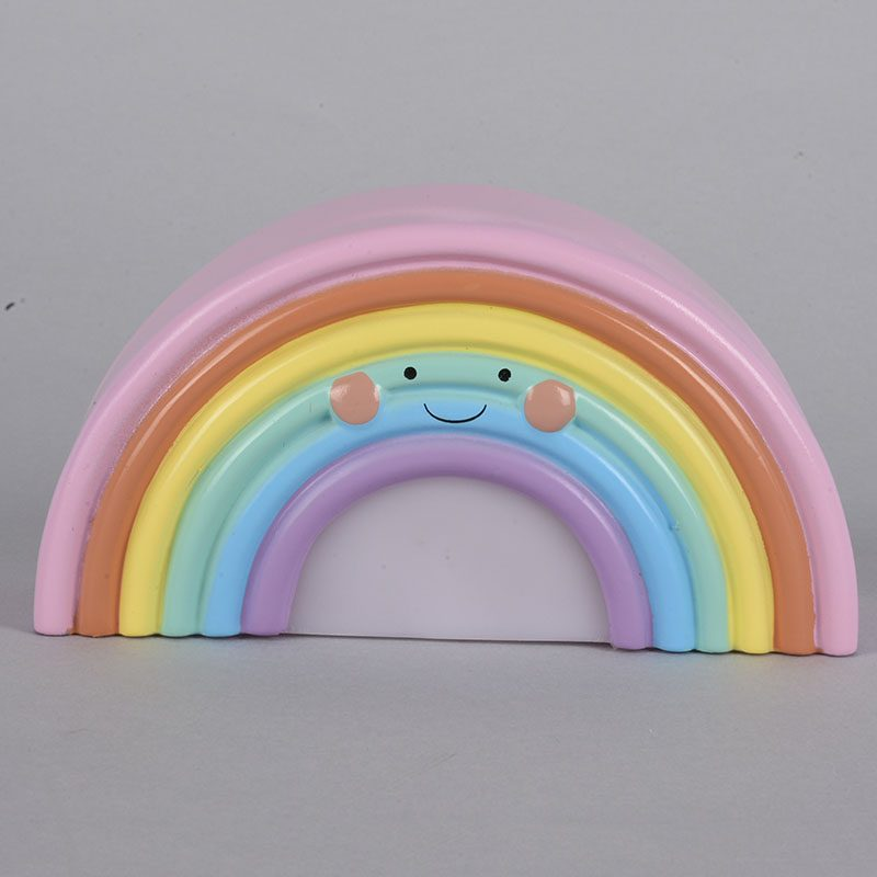 Novelty Smile Face Rainbow LED Night Lights Battery Night Lamps Baby Room Nursery Living Room Decor Kids Christmas Gifts Lamps 1