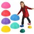 16CM Diameter Kids Inflatable Plum Pile Educational Toy Sports Parent-child Interactive Games Semicircle Massage Ball 1 PCS Set