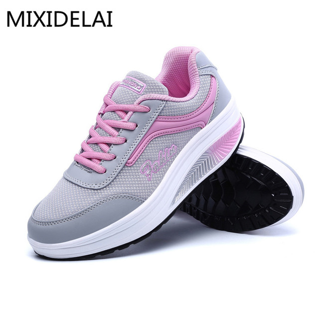 2017 New Summer Zapato Woman Breathable Mesh Zapatillas Shoes For Women Network Soft Casual Shoes Flats EUR Size 35-40