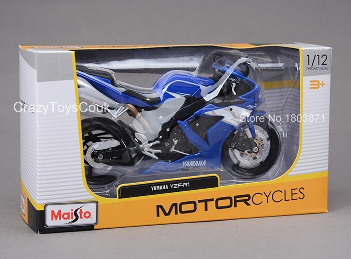 Maisto YAMAHA YZF R1 1:12 Diecast Collectors Motorcycle